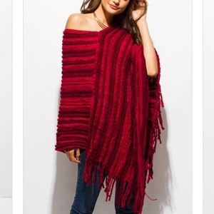 Sweaters - ❤️COMING SOON❤️ Red Poncho